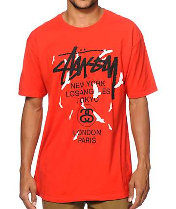 Stussy World Tour Birds T-Shirt