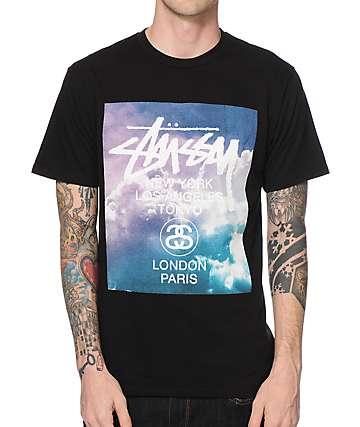 Stussy World Tour Clouds T-Shirt