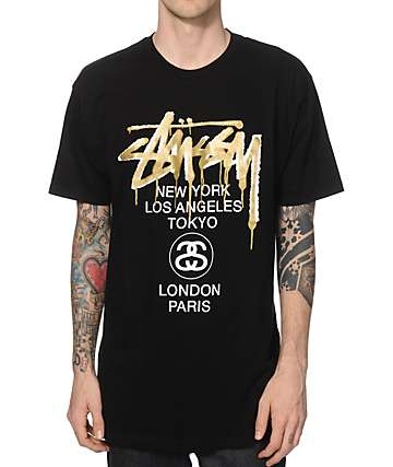 Stussy World Tour Drip T-Shirt