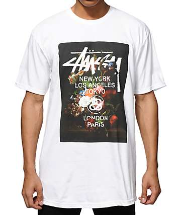 Stussy World Tour Floral T-Shirt