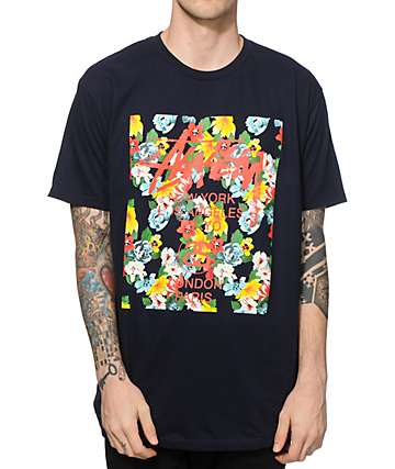 Stussy World Tour Flower Block T-Shirt
