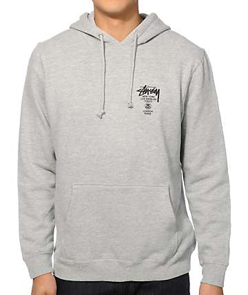 Stussy World Tour Grey Hoodie