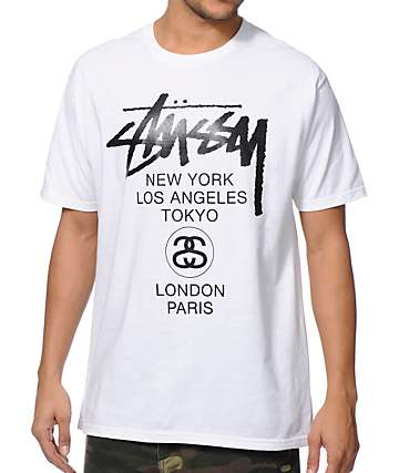 Stussy World Tour White T-Shirt