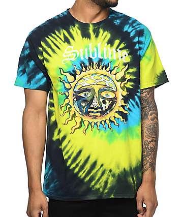 Sublime Tropical Tide camiseta con efecto tie dye