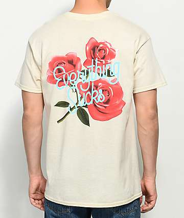 Succ Everything Sucks Cream T-Shirt