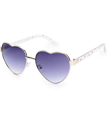 Sugar Red Stars Heart Sunglasses