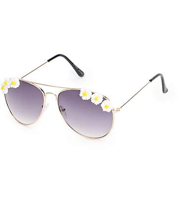Summer Lovin Floral Aviator Sunglasses