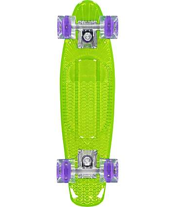 "Sunset Blacklight Alien 22""  Cruiser Complete Skateboard"