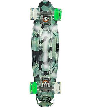 "Sunset Camo Gripped 22"" Cruiser Complete Skateboard"