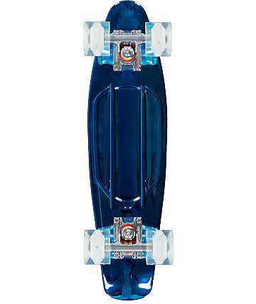 "Sunset Chrome Blue 22"" Cruiser Complete Skateboard"