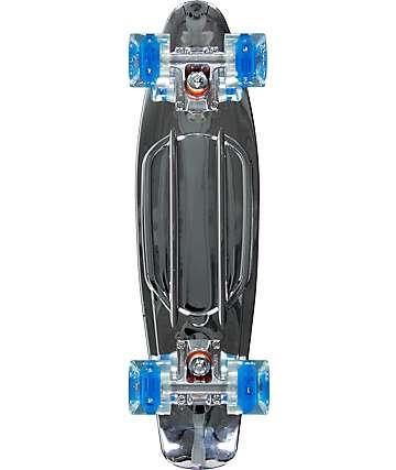 """Sunset Chrome Silver 22"""" Cruiser Complete Skateboard"""