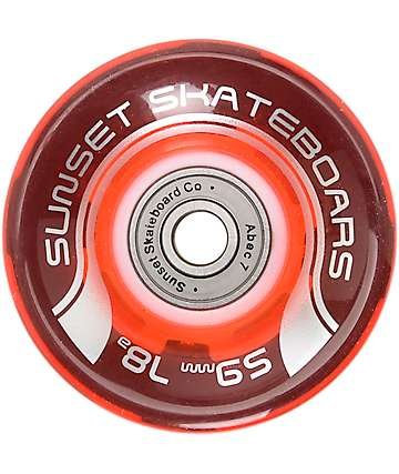 Sunset Flare 59mm Rasta LED Cruiser Wheels