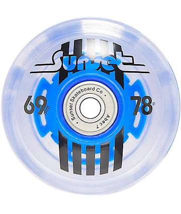 Sunset Flare 69mm LED Longboard Wheels
