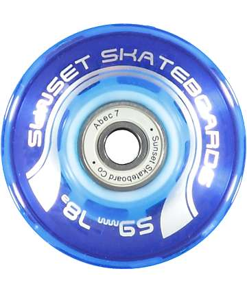 Sunset Flare Blue 59mm LED Cruiser Wheels