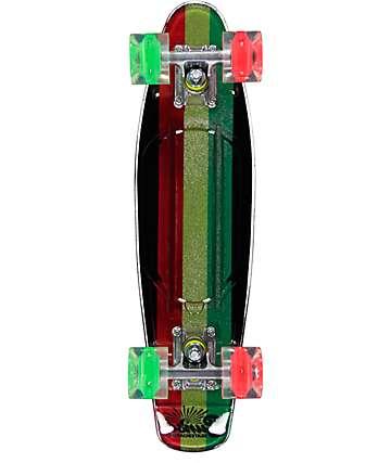 """Sunset Rasta Gripped 22"""" Cruiser Complete Skateboard"""