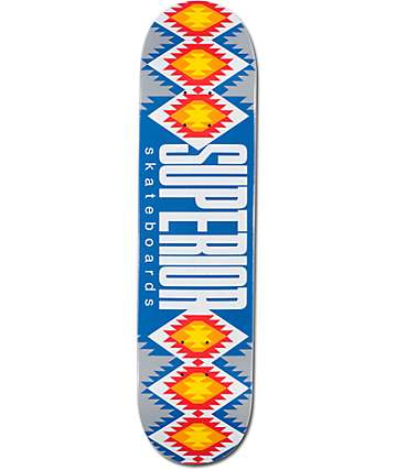 "Superior Blue Mexi Blanket 7.75"" Skateboard Deck"