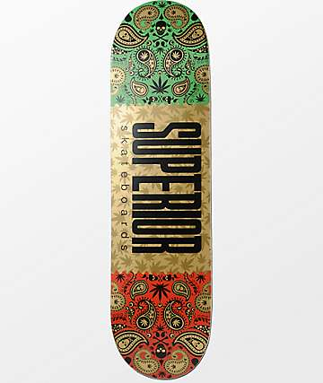 "Superior Gold Bandana 8.25"" tabla de skate"