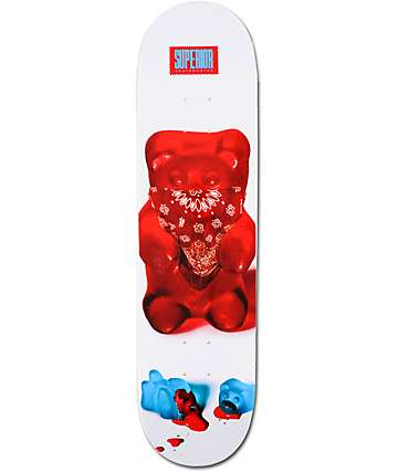 "Superior Skateboards Thuggy Bear 8.0""  Skateboard Deck"