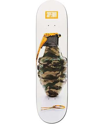 """Superior Snazzy Camo Grenade 8.0"""" Skateboard Deck"""