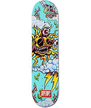 "Superior Solar Teal 7.7"" Skateboard Deck"