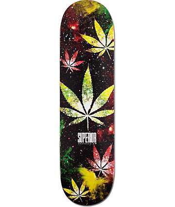 "Superior Weed Galaxy 8.25"" Skateboard Deck"