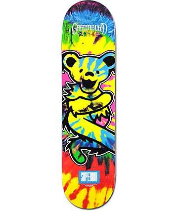 "Superior x Grateful Dead Bear Tie Dye 8.0"" tabla de skate"