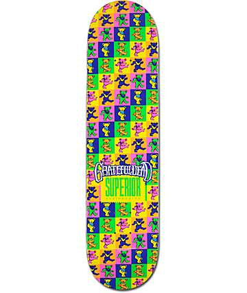 "Superior x Grateful Dead Logo Wrap Bears 7.75""  Skateboard Deck"