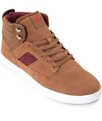 Supra Bandit Brown Suede & White Skate Shoes