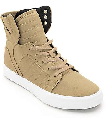 Supra Boys Skytop Kelp & White Skate Shoes