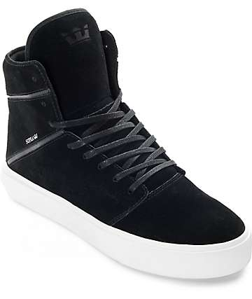 Supra Camino Black & White Skate Shoes