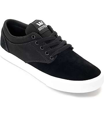Supra Chino Black & White Skate Shoes