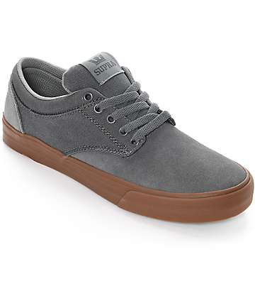 Supra Chino Grey & Gum Skate Shoes