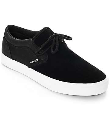 Supra Cuba Black & White Skate Shoes