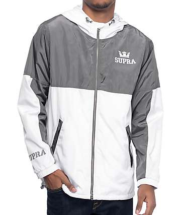 Supra Dash Grey & White Windbreaker Jacket