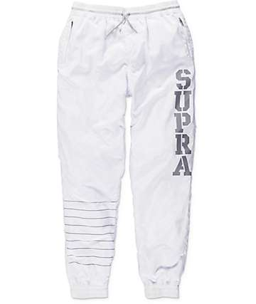 Supra Dash White Track Pants