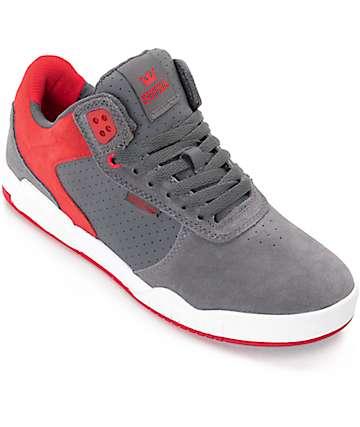 Supra Ellington zapatos de skate en gris, rojo y blanco