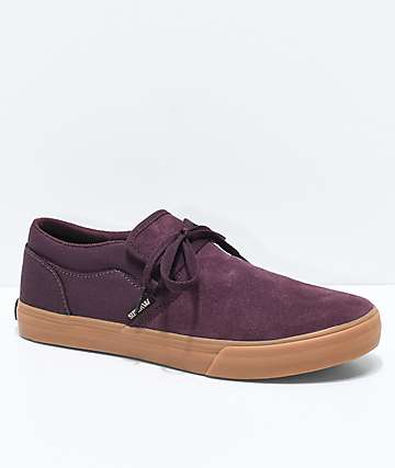 Supra Flow Candon Wine & Gum Skate Shoes