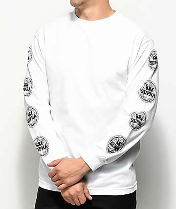 Supra Geo White Long Sleeve T-Shirt