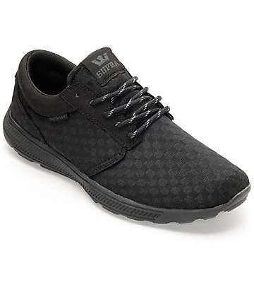 Supra Hammer Run Black Suede & Woven Shoes