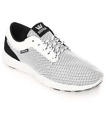 Supra Hammer Run zapatos de malla en blanco y negro