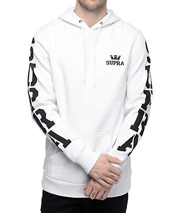 Supra Major White Pullover Hoodie