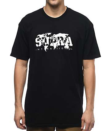 Supra Mapped Black T-Shirt