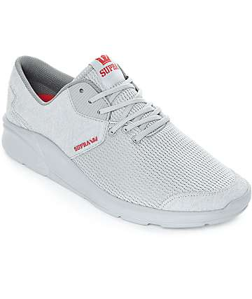 Supra Noiz Mono Light Grey Suede & Mesh Shoes