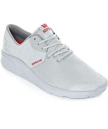 Supra Noiz zapatos grises de ante y malla