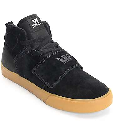 Supra Rock Black & Gum Skate Shoes