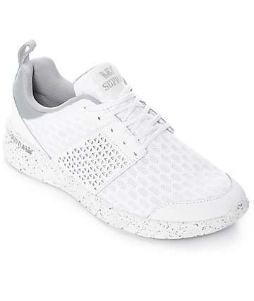 Supra Scissor White Mesh & Nubuck Shoes