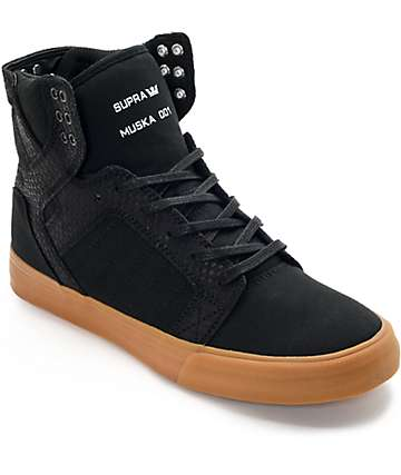 Supra Skytop Black & Gum Skate Shoes