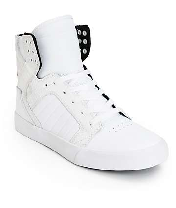 Supra Skytop Croc Leather Skate Shoes