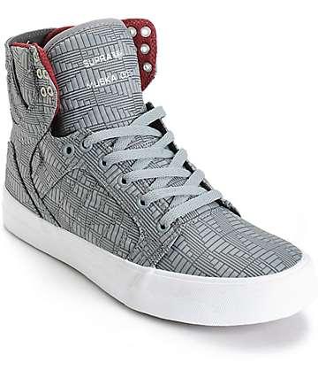 Supra Skytop Geo Jacquard Linen Skate Shoes