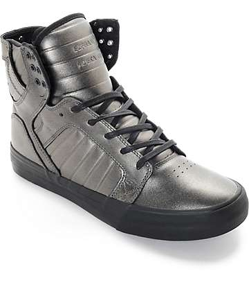 Supra Skytop HF Gunmetal & Black Estate Skate Shoes